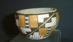 Superb Antique Native American Acoma Pueblo Pottery Bowl Vessel Earthenware Clay