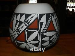 Superb Extra Large Polychrome Mary Antonio Garcia Acoma Olla/free Shipping