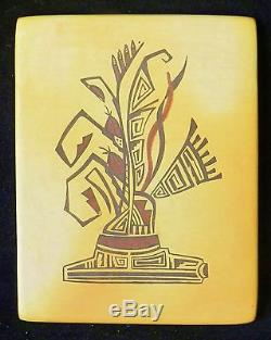 Superb Hopi Tewa Pottery Tile Arizona Pot Pottery Vintage Native American