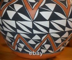 Superb Large Sharon Stevens Hand Coiled Acoma Pueblo Olla/free Ship/polychrome