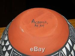 Superb Polychrome Mary Antonio Garcia Hand Coiled Acoma Olla/free Shipping