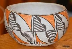 Superb Vintage Handcoiled Acoma Pueblo Olla! MID To Early 1900's/free Shipping