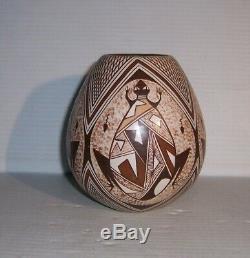 Sylvia Naha Feather Woman Native American Hopi Pottery Jar Pot Vessel