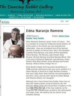 Taos Pueblo Micaceous Clay Pottery by Edna Romero Santa Clara Native American