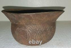 Taylor Engraved Bowl Ancient Native American Caddo Indian Pottery withCOA