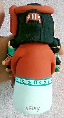 Tim Tosa Storyteller pottery figure jemez native american handmade t