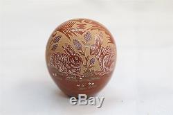 VERY RARE Grace Medicine Flower Santa Clara High Polished 2 Rabbits Egg Scupt