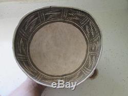VERY RARE prehistoric Anasazi Keyenta negative B/W bowl-MINT
