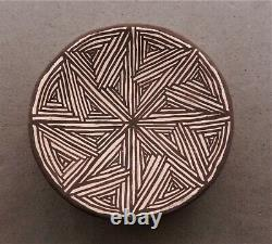 VINTAGE'60s NATIVE AMERICAN ACOMA ANITA GARCIA LOWDEN POTTERY PLATE/PLAQUE, SGND