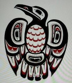 VINTAGE Native American Santa Clara Pueblo Blackware RAVEN WHISTLE EFFIGY