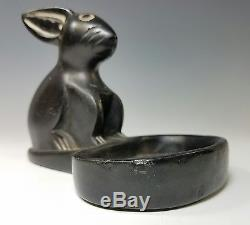 Vintage San Ildefonso Pueblo South West Indian Native American Pottery Animal