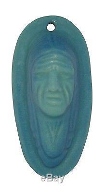 Van Briggle Pottery 1940s Native American Blue Wall Plaque