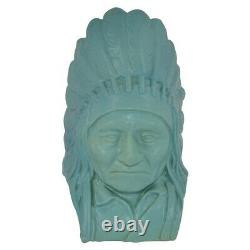 Van Briggle Pottery 1984 Bust Of Native American Indian Chief Sitting Bull