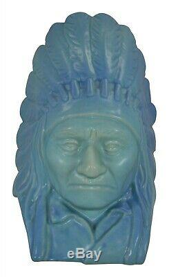 Van Briggle Pottery Limited Edition Bust Of Native American Chief Sitting Bull