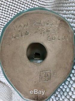 Van Briggle Pottery Native American Maiden Grinding Corn