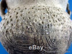Very Fine TN Engraved Strap Handel Pottery Jar wt OS COA Arrowheads Artifacts