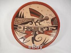 Very Large Hopi Indian Pottery Bowl By Award Winning Agnes Nahsonhoya Setalla
