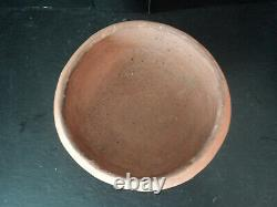Very Old & Historic Taos Pueblo Micaceous RED Clay Bowl Pot HTF Authentic Piece