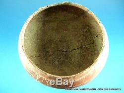 Very Rare Authentic Engraved Florida Pottery Bowl Indian Arrowheads Artifacts