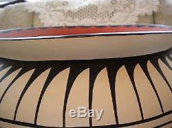 Very large (vintage) 15 (AUTHENTIC JEMEZ) handpainted native american pottery