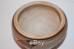 Vintage 4Hx5W Hopi Native American Polychrome Bird Pot EXCLT Juanita Healing