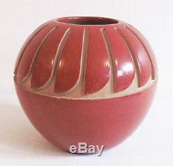 Vintage ANNA ARCHULETA Santa Clara Pueblo Native American Pottery Vessel