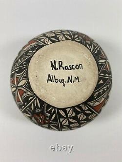 Vintage Acoma Native American Pottery Natasha Rascon Albuquerque NM RARE