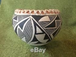 Vintage Acoma New Mexico Native American Indian Pottery Bowl Emma Or Lucy Lewis