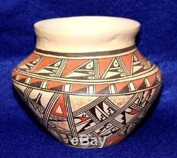 Vintage Antique Circa 1930 1940's Hopi Indian Pottery Signed Arnette Silas