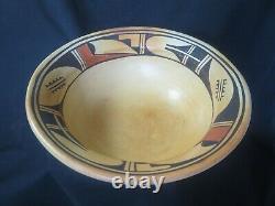 Vintage HOPI Pottery Polychrome OLLA BOWL Native American