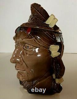 Vintage McCoy USA Native American Indian Cookie Jar