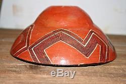 Vintage Native American Acoma Pottery Polychrome Bowl