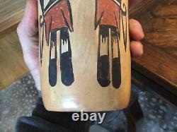 Vintage Native American HOPI Indian Pottery Beaker JAR vase