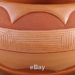 Vintage Native American Hand Coiled San Juan Pueblo LRG POTTERY BOWL by Naranjo