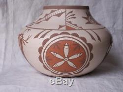 Vintage Native American Indian bowl Zuni Alan Lasiloo Shiwi estate find