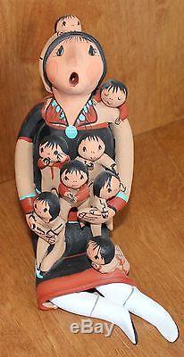 Vintage Native American Jemez Pottery N. M. Storyteller By Joyce Lucero