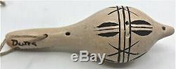 Vintage Native American Miniature Rattle Hopi signed Dextra Quotskuyva Nampeyo