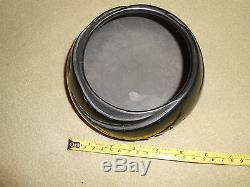 Vintage Native American Polished Black on Black Pot Santa Clara Frances Naranjo
