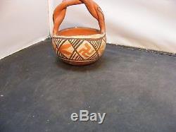 Vintage Native American Pottery BasketIsleta PuebloNICE