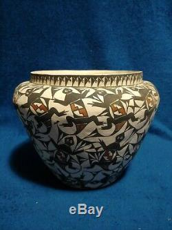 Vintage Native American Pottery Stevens Acoma NM Vase