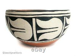 Vintage Native American Pueblo Indian Redware Pottery Bowl / Jar Marie Aguilar
