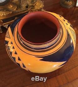 Vintage Native American Pueblo Roscoe West New Mexico Pottery Jar