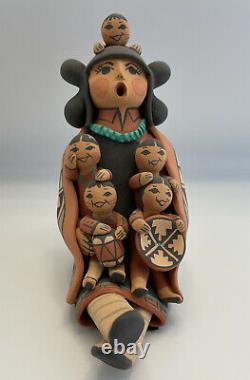 Vintage Native American Pueblo Storyteller Doll By Carol G. Lucero Gachupin 6