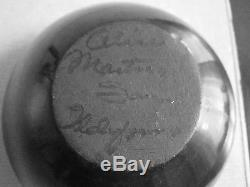 Vintage Native American San Idelfonso Pottery Blackware Jar Alice Martinez 3h