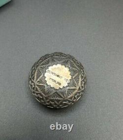 Vintage Native American Sunshine Reeves 17G Sterling Mini Seed Pot 1 1/4diam