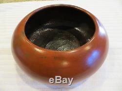 Vintage Native American Susie W. Crank Navajo Redware Pottery Bowl 7.5 x 3.5