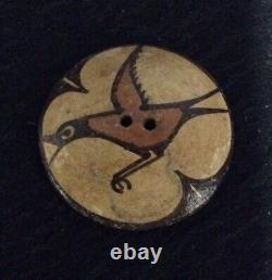 Vintage Native American Zia Pottery Button
