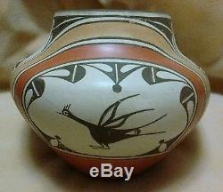Vintage Native American Zia Pottery Jar by Award Winning Potter Sofia Medina