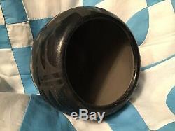 Vintage Old Santa Clara Nicolasa Naranjo Black Indian Pottery Serpant Avanyu Pot
