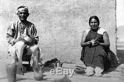 Vintage Santa Clara Pottery AVANYU SERPENT Blackware Lela&Van Gutierrez c20s-40s